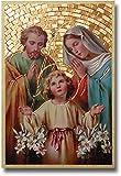 StealStreet SS-Wjh-46E-361 Holy Family Foil Mosaic Plaque