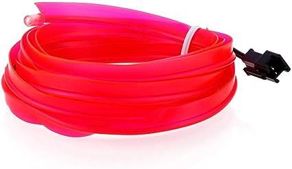 Rose Teabelle 12v Wire Fil Lumi/ère N/éon de Voiture Flexible Bande de la Lampe de Froid LED Int/érieur Ambiance de Lumi/ère Tube Lumineux 2m