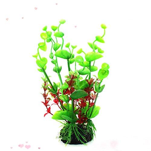 Reptile turtle box Mix Colors Artificial Water Plants Fish Tank Plastic Decoration Ornament green Water Plant Grass Color Green