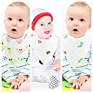 3 Baby Bandana Bib, Reversible, Personalized Bibs. Cute Bibs For Boys. Muslin Cotton Baby Bibs & Burp Cloth Soft For Girls. Multi Layers Drool Bibs. Baby Burp Bib For Shower, Holidays, Christmas Gift