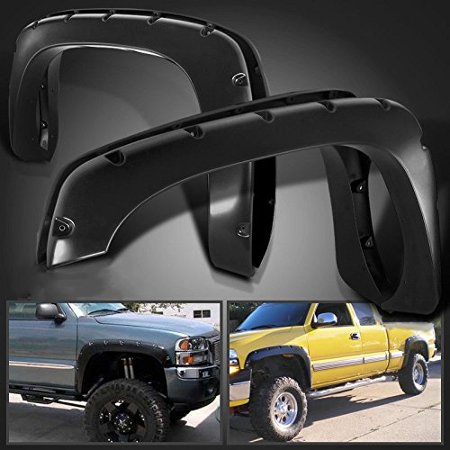 COLD RESISTANT 1999-2006 Chevy Silverado /& GMC Sierra Pocket Style Riveted Fender Flares