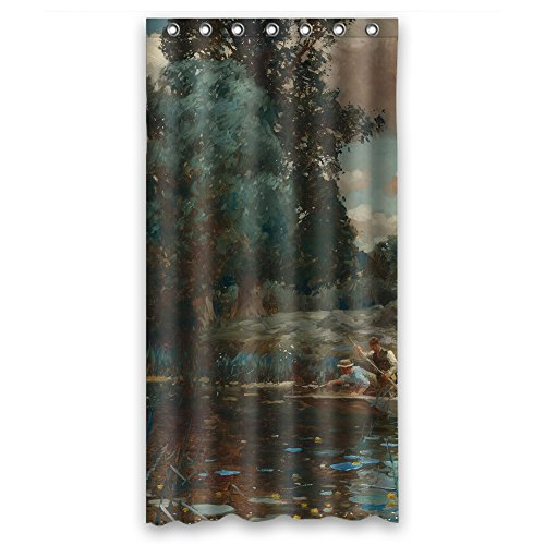 Eyeselect Alfred James Munnings P.r.a. R.w.s. - A Summer Afternoon Bath Curtains Polyester Best For Artwork Husband Boys Birthday. Machine Washable Width X Height / 36 X 72 Inches / W H -