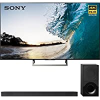 Sony XBR75X850E 75 4K HDR Triluminos UHD LCD Android TV with Google Home Compatibility 3840x2160 & Sony HTX9000F 2.1Ch 4K HDR Compatible Dolby Atmos Soundbar with Bluetooth