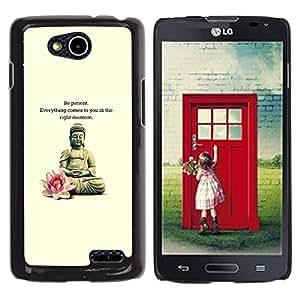 YOYOYO Smartphone Protección Defender Duro Negro Funda Imagen Diseño Carcasa Tapa Case Skin Cover Para LG OPTIMUS L90 D415 - Buddha loto cotización meditación flor