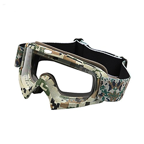 Ct Carid Motorcycle Goggles Glasses Off Road Racing   Dirt Bike Dustproof Scratch Resistant  Military Camouflage