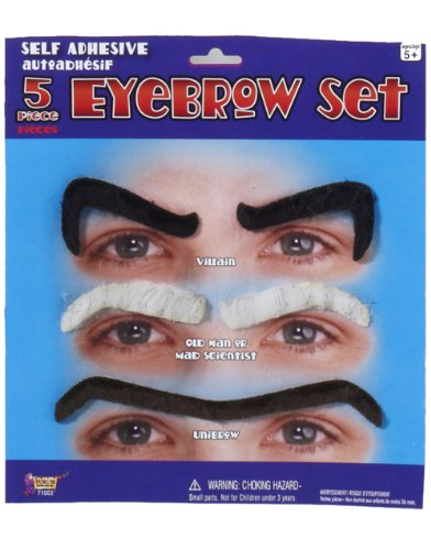Forum Novelties Eyebrow Set, Black/Grey ()