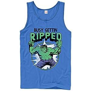 Fifth Sun Marvel Men's Hulk Getting Ripped Royal Blue Tank Top