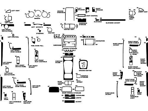 Rdash Dash Kit Decal Trim for Porsche Cayenne 2003-2010 - Carbon Fiber 3D (Black) (Carbon Dash Kits)