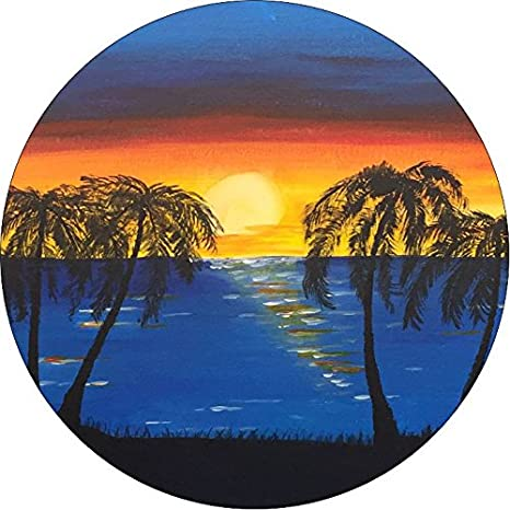 RV Trailer Scamp Jeep TIRE COVER CENTRAL Beach Sunset with Palm Trees Spare Tire Cover fits Camper Drop Down Size menu