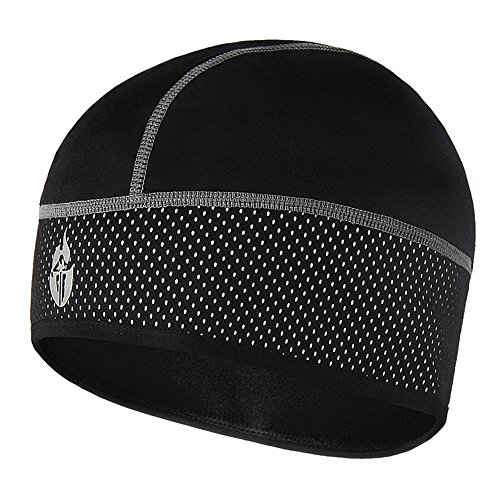 FREEMASTER Sports Mütze Herren Damen Fahrrad Cycling Helm Cap Bike Warm Cap Universal Helm Beanie WS Baseball Thermo Mütze Schwarz Winter (Weiß)