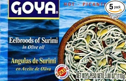 Goya Eelbroods of Surimi 3.8oz 25 Pack by Goya