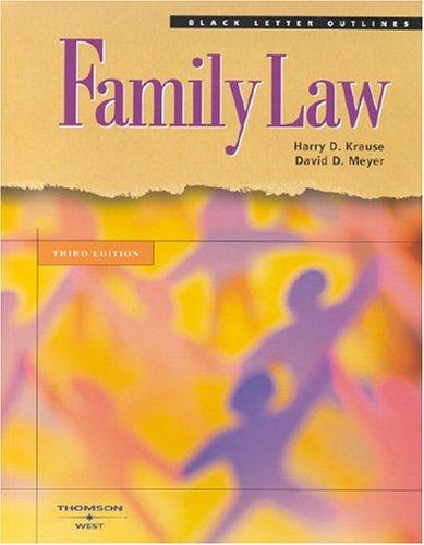 Black Letter On Family Law (Black Letter Outlines)
