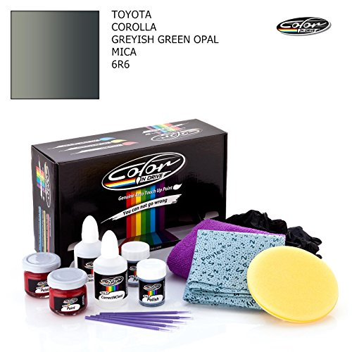 TOYOTA COROLLA / GREYISH GREEN OPAL MICA - 6R6 / COLOR N DRIVE TOUCH UP PAINT SYSTEM FOR PAINT CHIPS AND SCRATCHES / PRO -