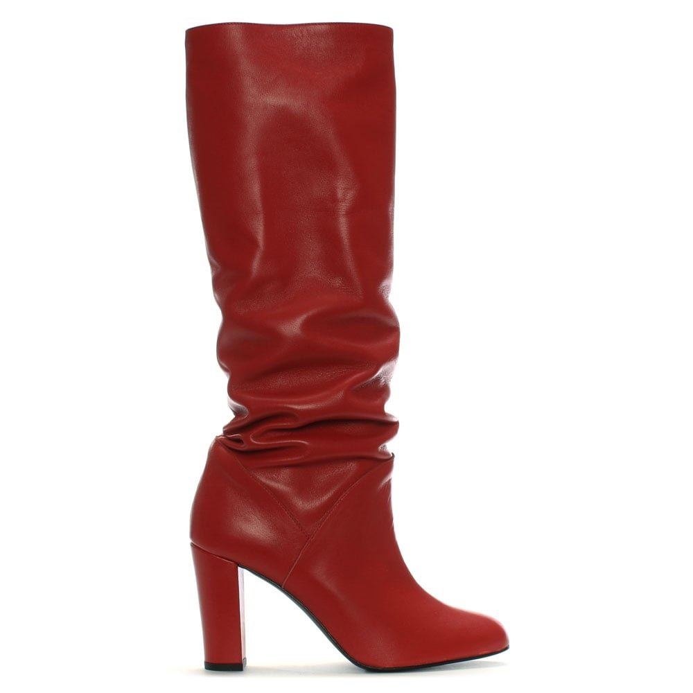 DANIEL Atube Atube Atube rot Leather Rouched Knee Stiefel c3ef2c