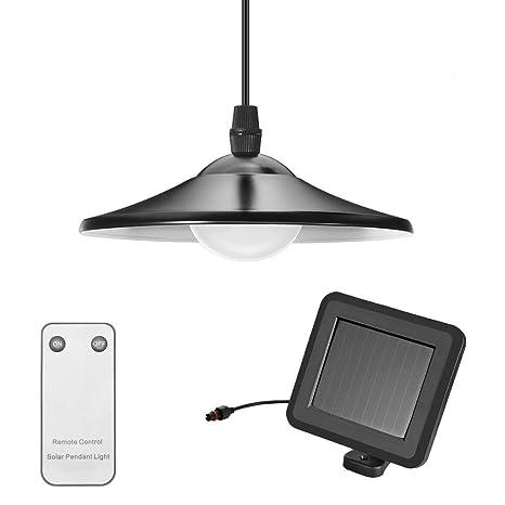 tomshine Solar - Lámpara de techo con mando a distancia ...