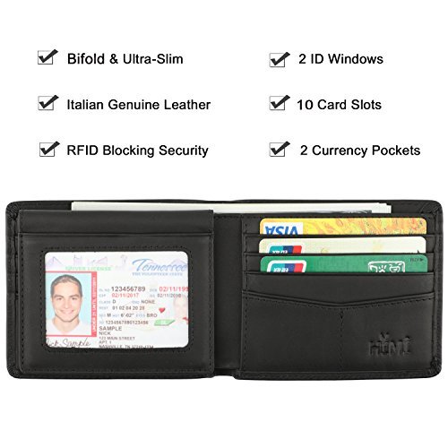 Wallet-for-Men-Genuine-Leather-RFID-Blocking-Bifold-Stylish-Wallet-With-2-ID-Window