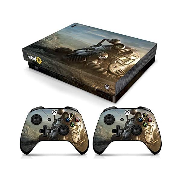Controller Gear Officially Licensed Console Skin Bundle for Xbox One X – Fallout – Power Armor Helmet