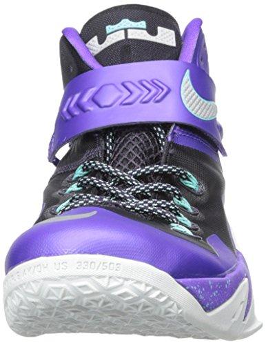 Nike Zoom Lebron Soldier Viii Scarpe Da Basket Da Uomo Viola / Argento Metallizzato
