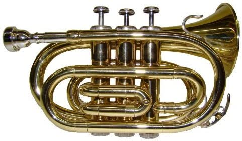 Crystalcello WD480 B Flat Lacquer Plated Pocket Trumpet