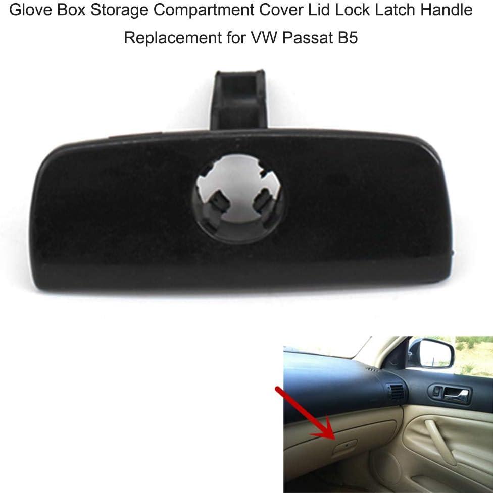Handschuhfach-Ablagefachdeckel-Verriegelungsgriff F/ür Vw Passat B5 Tickas Auto-Handschuhfach-Verschlussdeckel