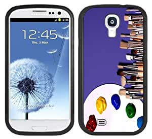 Artist Palette Handmade Samsung Galaxy S4 Black Bumper Hard Plastic Case