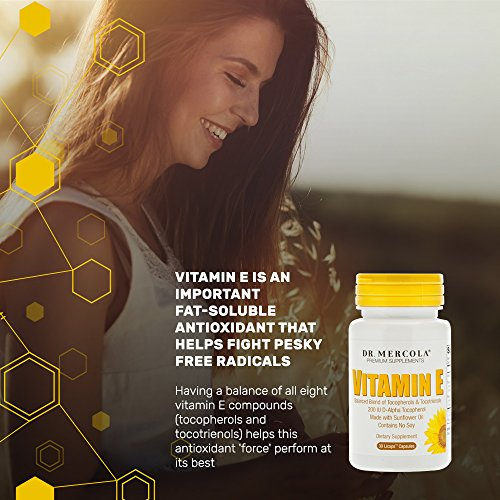 Dr. Mercola Vitamin E Supplement - 30 Capsules - 2 Bottles - Balanced Blend of Tocopherols and Tocotrienols - Made with Sunflower Oil - Contains No Soy - 200 IU D-Alpha Tocopherol by Dr. Mercola (Image #3)