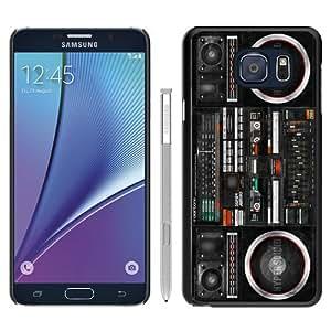 Hot Sale Note 5 Case,Boombox Ghetto Blaster Black Samsung Galaxy Note 5 Screen Phone Case Unique and Art Design