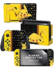 "Controller Gear Nintendo Switch Skin & Screen Protector Set - Pokemon - ""Pikachu Set 1"" - Nintendo Switch"