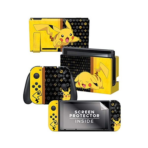 Controller Gear Nintendo Switch Skin & Screen Protector Set - Pokemon - Pikachu Set 1 - Nintendo Switch 1