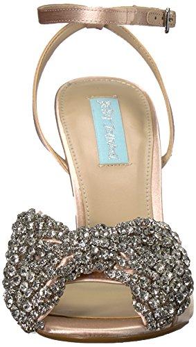 Blu By Betsey Johnson Womens Sb-heidi Sandalo Con Tacco Raso Champagne