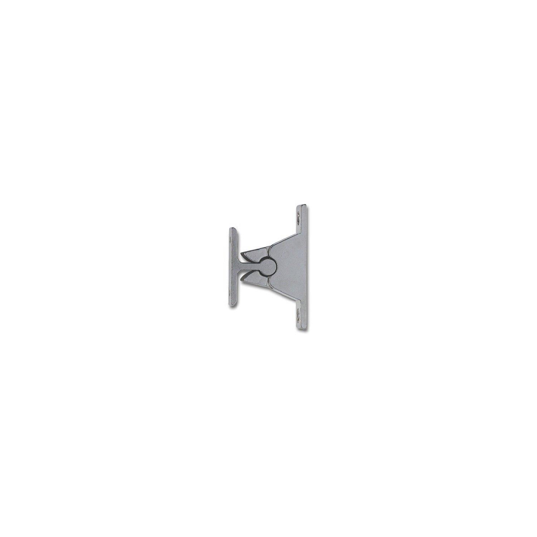 zamak chrom/é Support de porte avec syst/ème de serrage distance au mur 35 mm