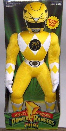 Power Rangers 16  Plush Yellow Ranger Figure
