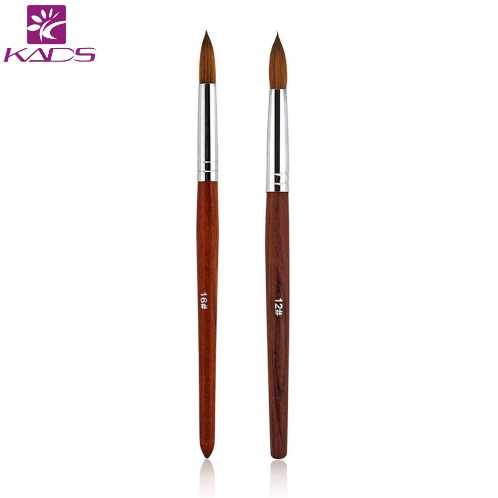 KADS 100% sable kolinsky brush Pinselset Künstler Malen Pinsel Set Rotmarderpinsel Aquarell Acryl Filbert Ölmalpinsel für Malerei Ölmalerei Wasserfarben Bürste (12#) KADS Co. Ltd