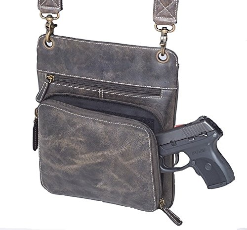 GTM CZY/01 Concealed Carry BR Distressed Vintage Buffalo Leather Flat SAC Bag