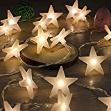 3M 30 LED fairy Lights Battery Operated Five-pointed Star LED Christmas string lights for Outdoor Indoor Xmas Party Wedding Garden Decoration by FUCNEN