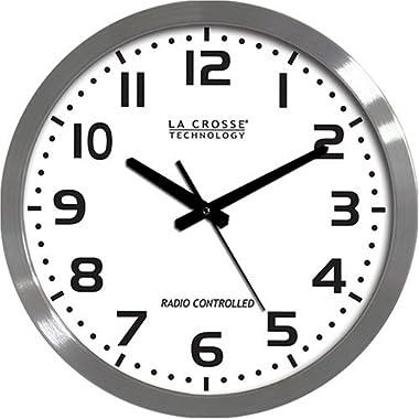 La Crosse Technology WT-3161WH 16-Inch Metal Atomic Analog Clock