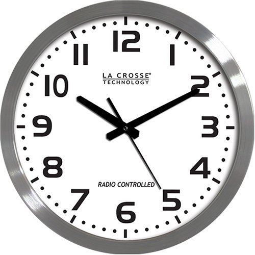 La Crosse Technology WT-3161WH 16-Inch Metal Atomic Analog - Atomic Wall Clock Analog