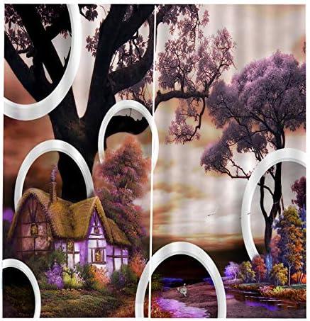 QinKingstore 170 * 200カーテン花の花印刷ドア窓カーテン家の装飾寝室リビングルーム