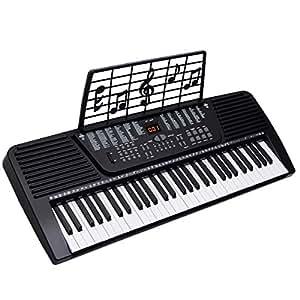 61 key digital electronic music keyboard electric piano organ black musical instruments