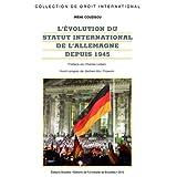Evolution du statut internatio