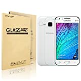 VIMVIP Samsung Galaxy J1 Glass Screen Protector Premium HD Clear Film with Free Lifetime Replacement Warranty / Ultra High Definition Invisible and Anti-Bubble Crystal Shield (Galaxy J1)