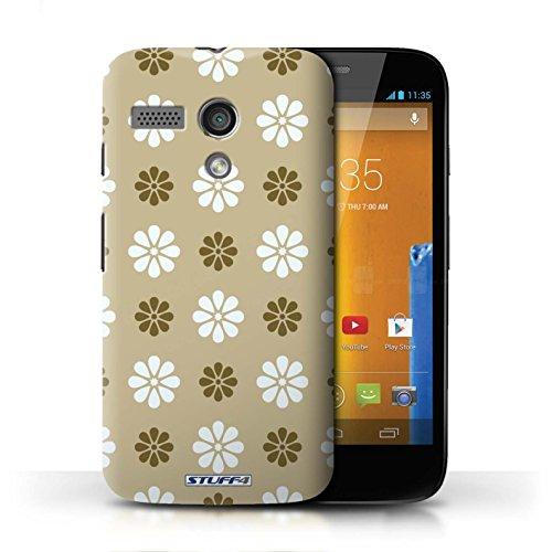 Etui / Coque pour Motorola MOTO G (2013) / Beige conception / Collection de Motif avec pétales