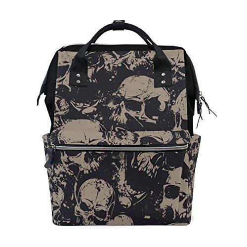 grunge skulls diaper bag backpack