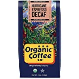The Organic Coffee Co., Decaf Hurricane Espresso- Whole Bean, 12 Ounce, Swiss Water Process- Decaffeinated, USDA Organic