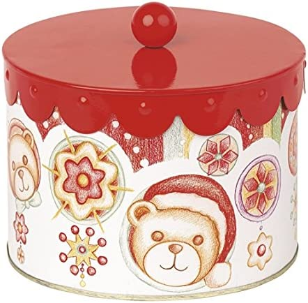 THUN - Caja de Lata Grande, con decoración navideña, Multicolor: Amazon.es: Hogar