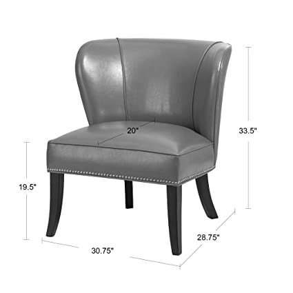 Hilton Armless Accent Chair Blue Green See Below