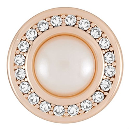 Silver Rose Snap (Ginger Snaps ROSE GOLD MISS PEARL SN09-88 (Standard Size) Interchangeable Jewelry Accessories)