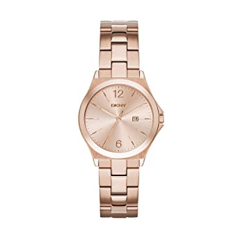 DKNY Womens NY2367 PARSONS Rose Gold-Tone Stainless Steel Watch
