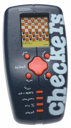 Trademark Global 10-4172010, Pocket travel electronic Checkers (Checkers Handheld)