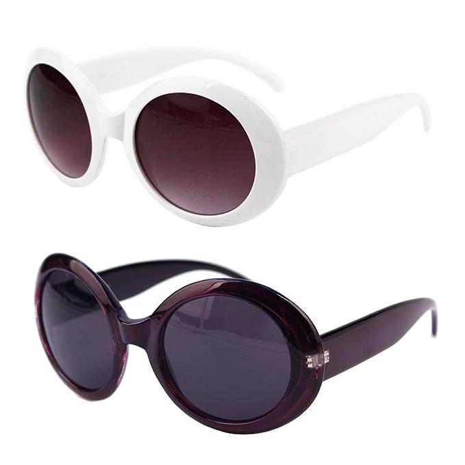 2cfcf71238ba Womens Fashion Circle Round Jackie O Bold Chic Sunglasses P547 (2 Pc Black  Smoke Lens